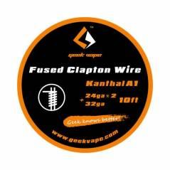 GeekVape Fused Clapton Wire 24GAx2+32GA 3 mt